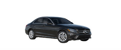 2019 MB C-Class front fascia and driver side Obsidian Black Metallic