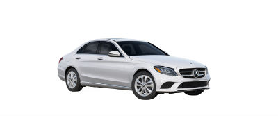 2019 MB C-Class front fascia and drivers side Polar White
