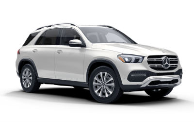 designo Diamond White Metallic 2020 MB GLE exterior front fascia passenger side white background