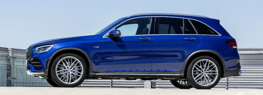 2020 MB GLC SUV exterior driver side profile