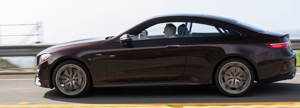 2019 Mercedes-Benz E-Class Coupe driving down highway