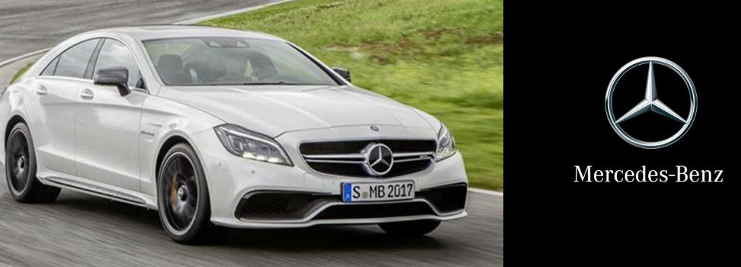 Mercedes-Benz CPO coupe exterior front fascia and passenger side going fast on road