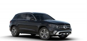 Graphite Gray Metallic 2020 MB GLC exterior front fascia and passenger side