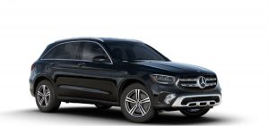 Black 2020 MB GLC exterior front fascia and passenger side
