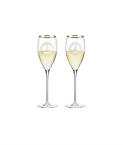 Stemmed white wine glasses Mercedes-Benz