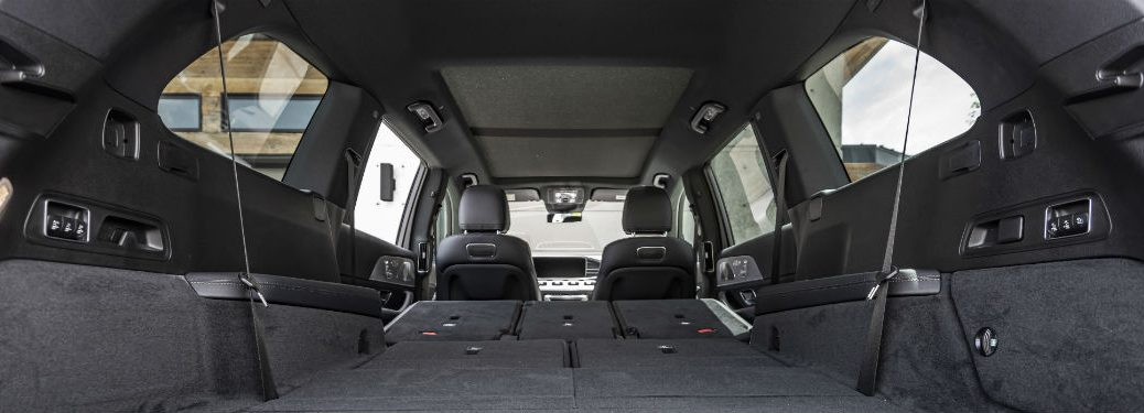 2020 MB GLS interior low view of cargo space looking to front seats