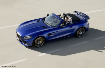 2020 Mercedes-AMG® GT R Roadster exterior top view driver side