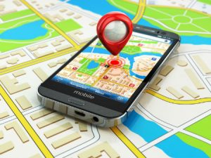 GPS navigation map on phone