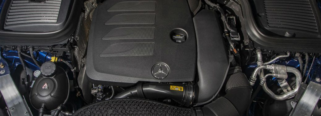 2020 MB GLC close up of engine