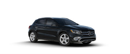 Night Black 2020 MB GLA exterior front fascia passenger side
