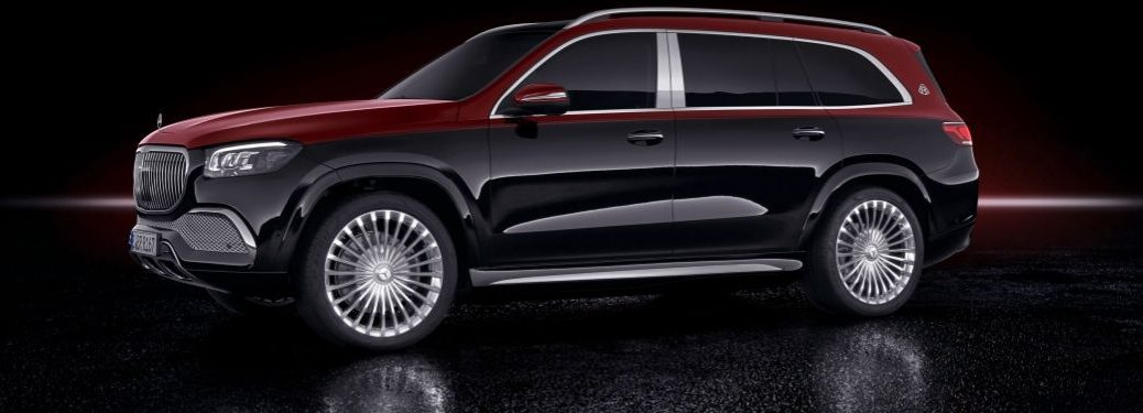 2021 MB GLS Maybach exterior front fascia driver side on black background