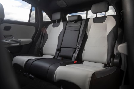 2021 MB GLA interior rear cabin seats