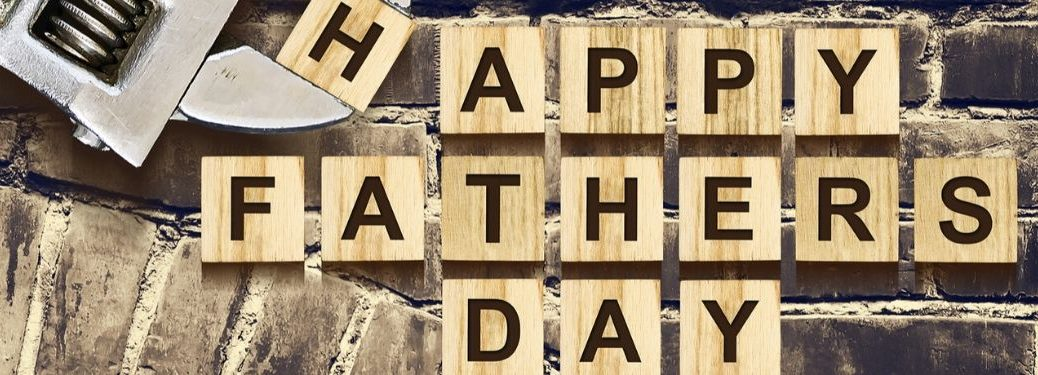 Happy Father's Day blocks with wrench