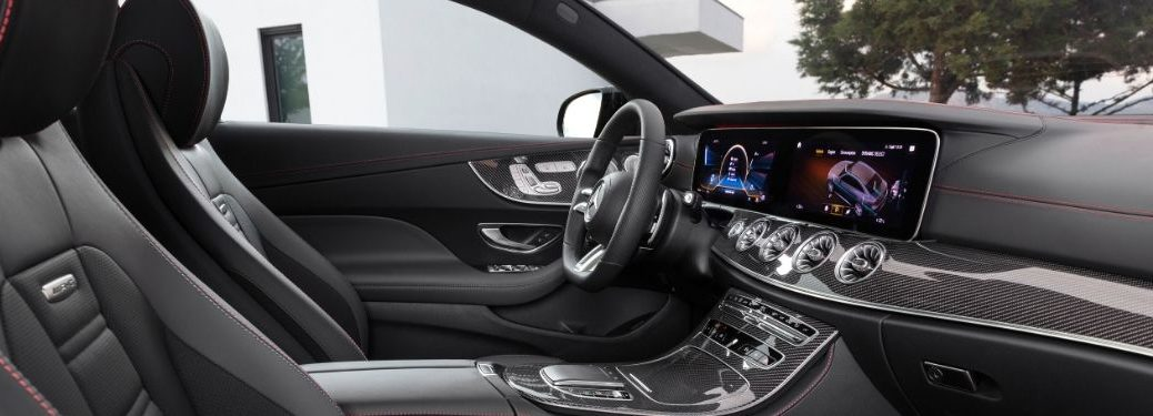 2021 MB E-Class interior side view seats dashboard steering wheel