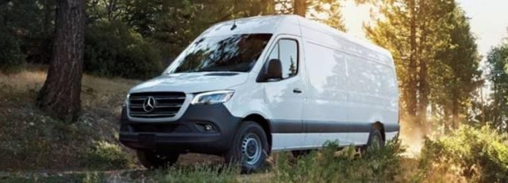 Mercedes-Benz Sprinter exterior front fascia driver side in nature