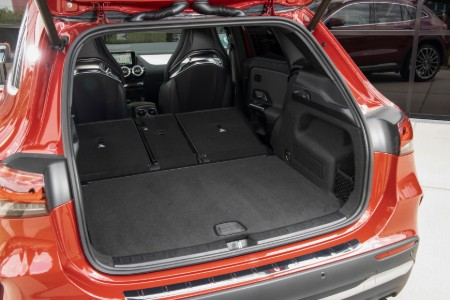 2021 MB GLA interior rear cabin cargo space