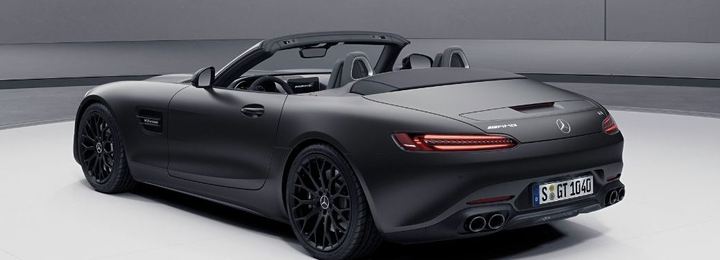 2021 MB AMG GT Stealth Edition exterior rear fascia driver side profile