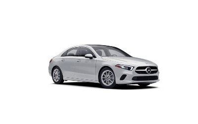 Digital White  2021 MB A-Class exterior front fascia passenger side