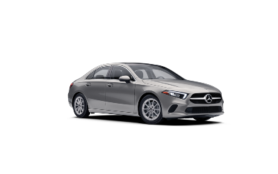 Mojave Silver metallic  2021 MB A-Class exterior front fascia passenger side