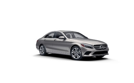 Mojave Silver metallic 2021 MB C-Class exterior front fascia passenger side