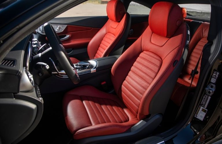 2021 MB C-Class Coupe interior side view seats steering wheel
