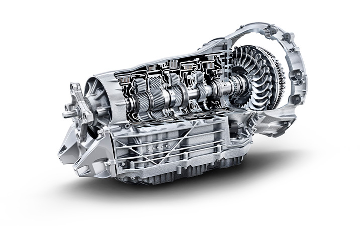 the 9-speed automatic transmission of the 2021 Mercedes-Benz S-Class