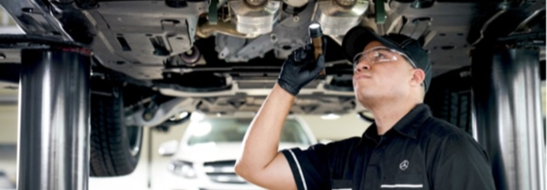 What's the difference between Mercedes Service A and Service B?