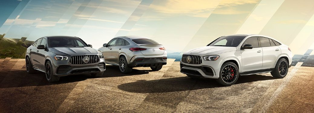 2021 GLE Coupe models parked next to each other
