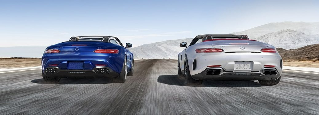 2021 AMG Roadster models from rear