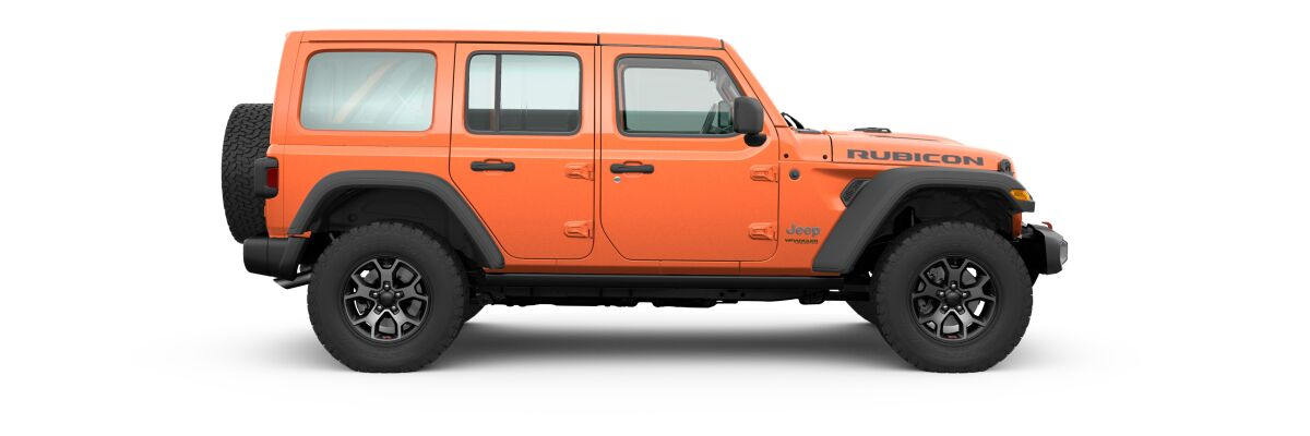 Punk'n Metallic 2020 Jeep Wrangler Unlimited Side Exterior on White Background