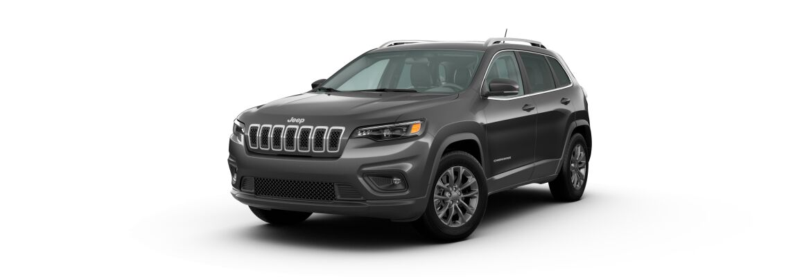 Granite Crystal Metallic 2020 Jeep Cherokee on White Background