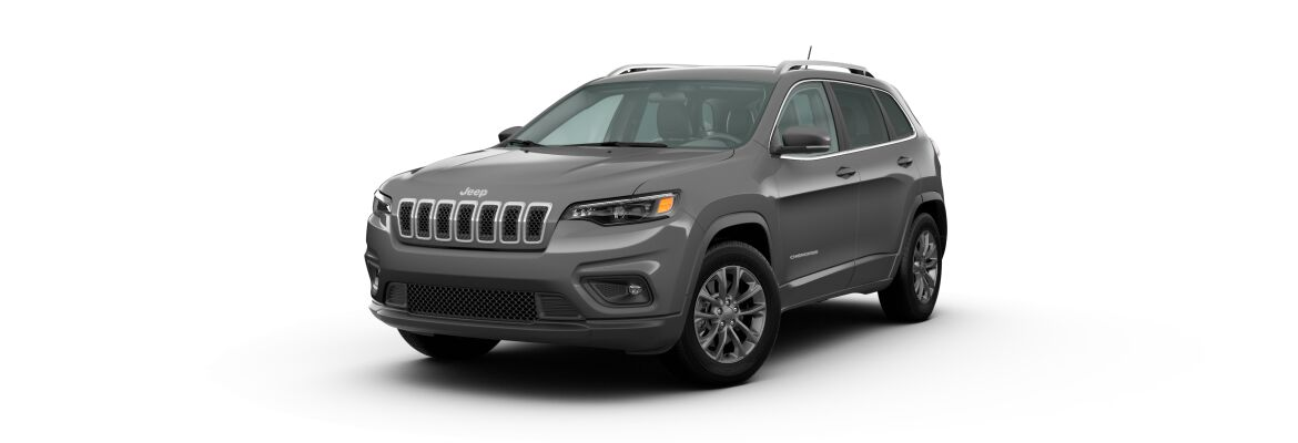 Sting-Gray 2020 Jeep Cherokee on White Background