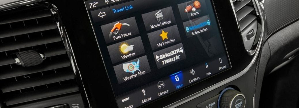 Close Up of 2020 Jeep Grand Cherokee Uconnect Touchscreen Display
