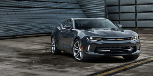 2016 Grey Chevy Camaro front view