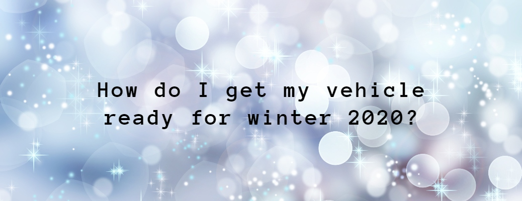 How do I get my vehicle ready for winter 2020 with sparkly background