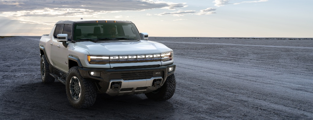 2022 GMC Hummer EV parked with nothing around