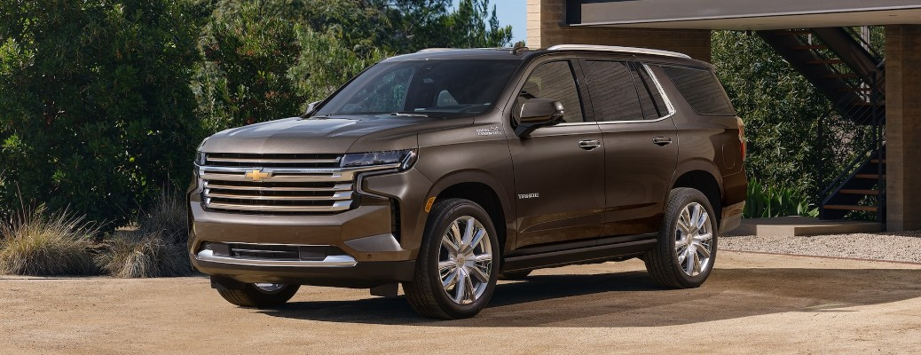 2021 Chevrolet Tahoe parked outside a home