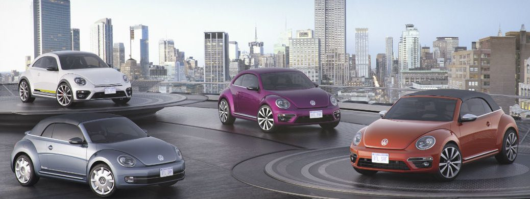 volkswagen beetle concept special edition new york auto show wave magenta pink R-line convertible denim
