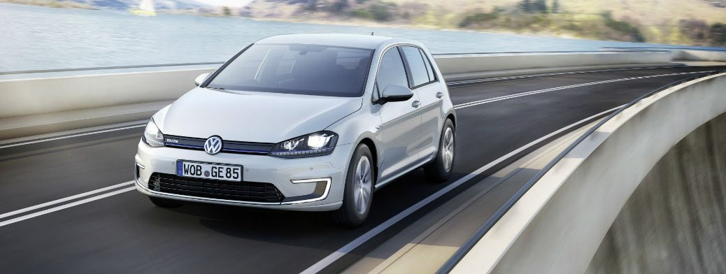 e-golf driving electric vehicle volkswagen sales spike increase