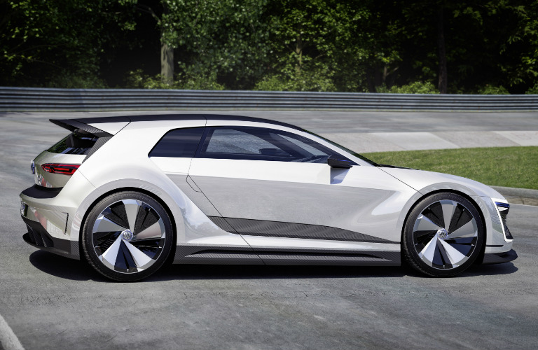 VW Golf GTE Sport Concept Side View