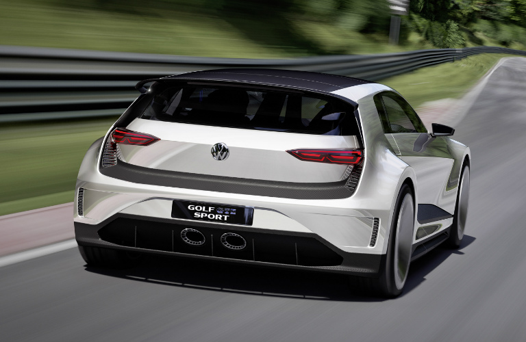 VW Golf GTE Sport Concept Rear View