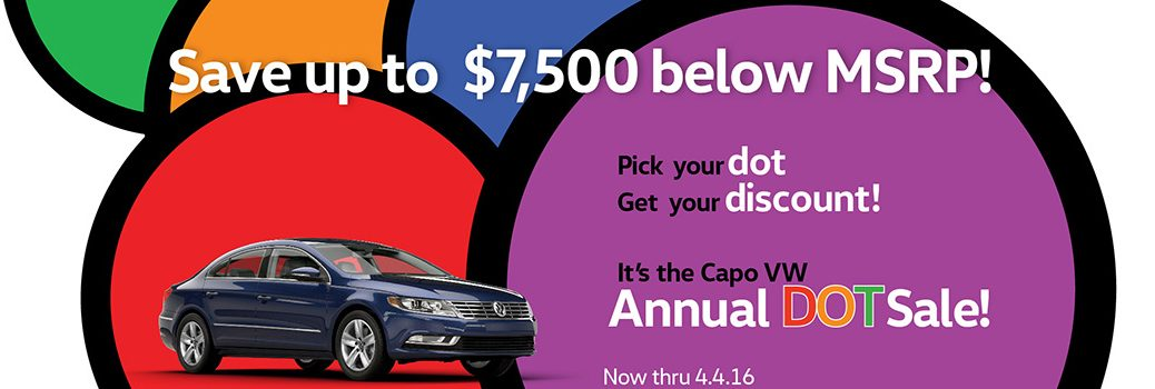 Capistrano Volkswagen Annual Dot Sale Orange County CA