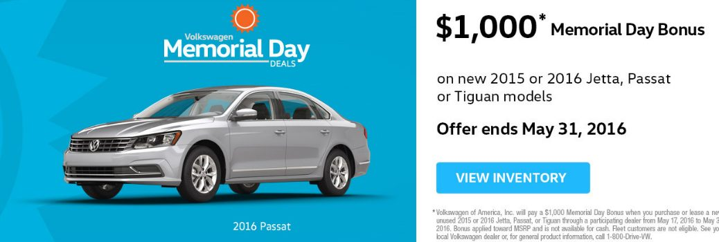 2016 Memorial Day Deals Volkswagen Orange County CA