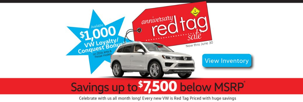 Capistrano Volkswagen June 2016 Anniversary Red Tag Sale