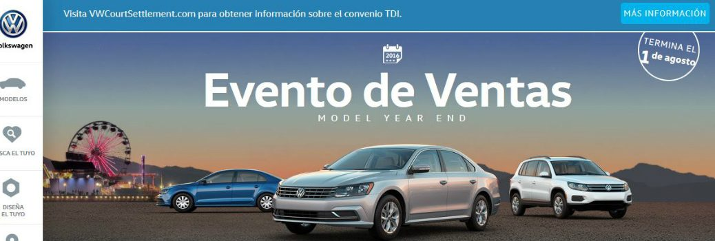 VW Spanish Website (VW.COM/ES/) Features and Content
