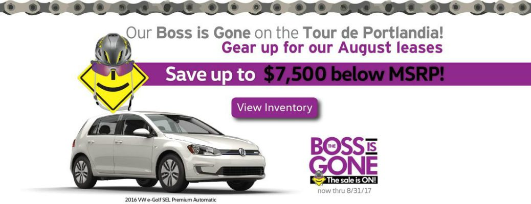 August 2017 Boss is Gone Volkswagen Specials Orange County CA