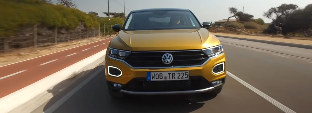 Front View of Yellow Volkswagen T-Roc