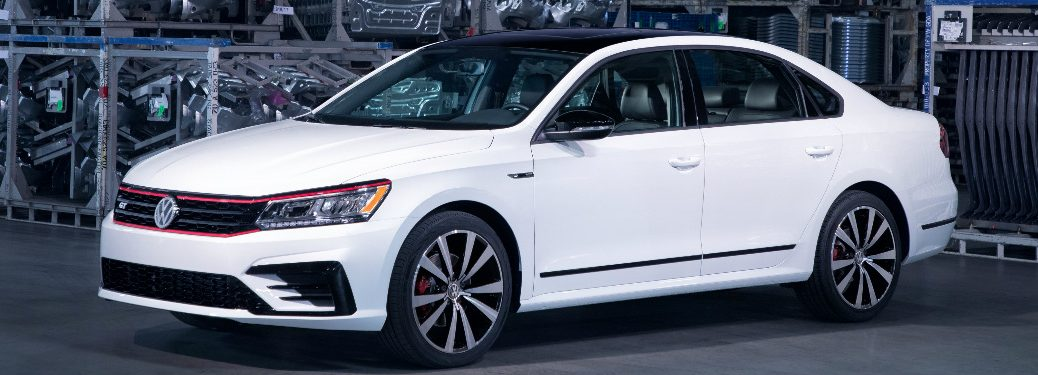 Side View of White 2018 VW Passat GT Special Model