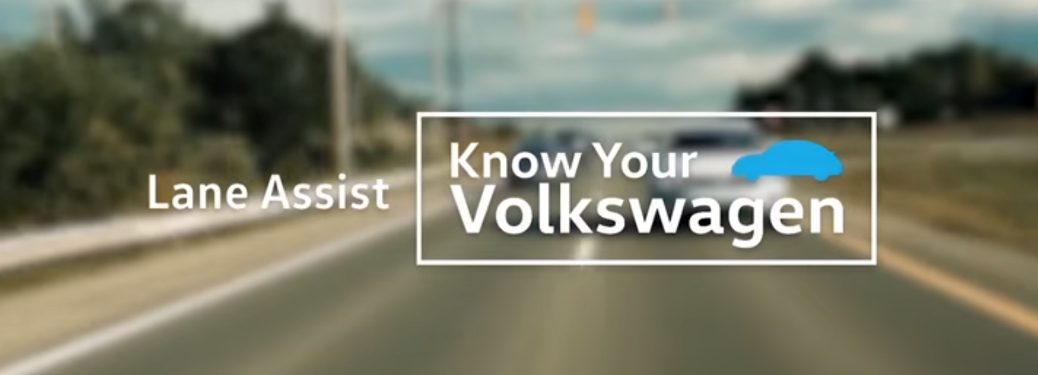 Lane Assist Know Your Volkswagen Title and Cars on a Highway
