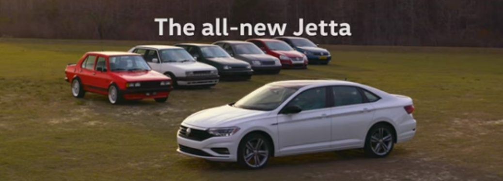 The All-New Jetta Title and Seven Volkswagen Jetta Models of Each Generation